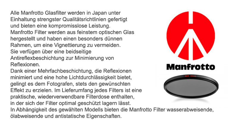 Foto-Filter von Manfrotto